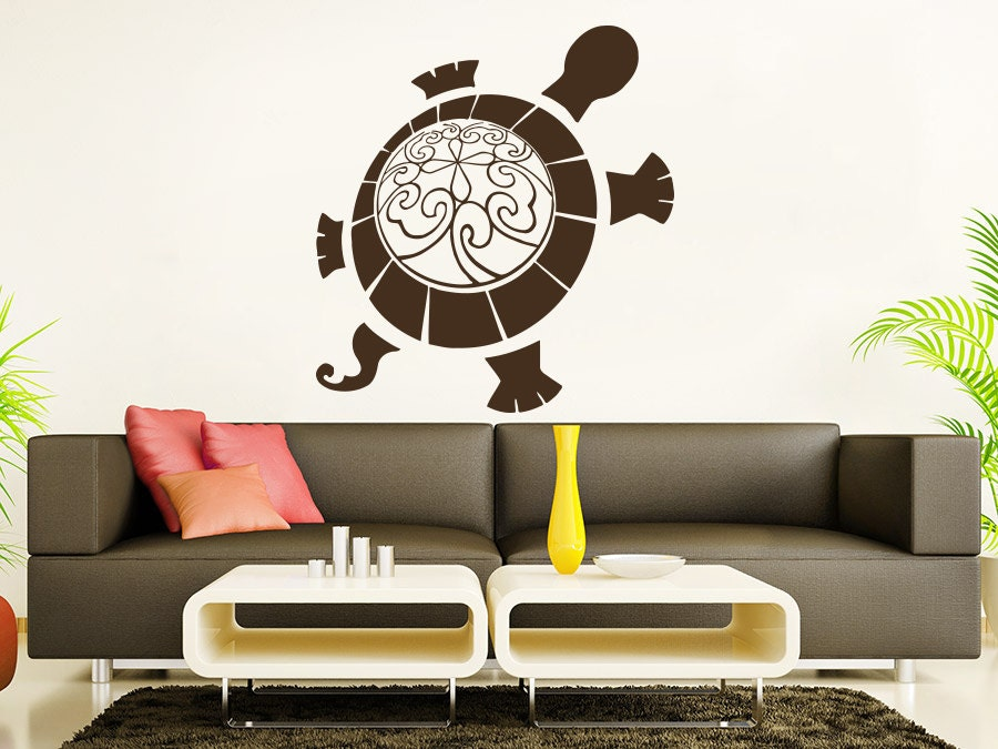 sea turtle wall decal ocean sea animals decals wall vinyl. Black Bedroom Furniture Sets. Home Design Ideas