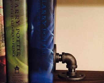 Industrial Pipe Bookend, Rustic Bookend, Industrial Bookend