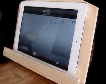 Wood iPAD Stand, Vented Back , IPAD STAND, Kindle Stand