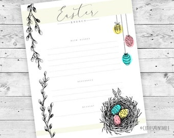 Editable Easter Brunch Printable - Customizable - PDF Editable