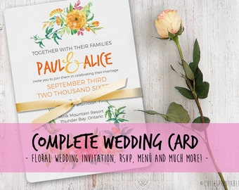 INSTANT DOWNLOAD: 8 PSD Wedding Shower Invitation Templates - Easy editing - 2 types of fonts