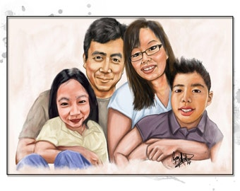 Custom Painted Portrait - Great for Weddings, signage boards, wedding gift, anniversary gift, engagement gift, couples gift