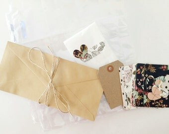 Floral Pocket Letter Kit: snail mail, pen pals, pen pal, happy mail
