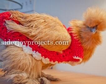 Tunisian Fancy Chicken Sweater PATTERN