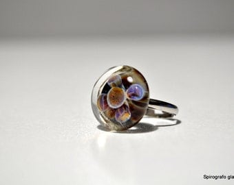 handmade borosilicate glass ring