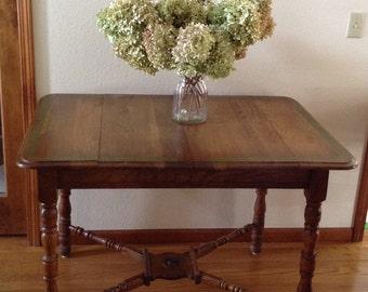 vintage farm table wood table oak table kitchen table vintage kitchen table   etsy  rh   etsy com