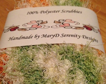 Crochet Scrubby Dishcloths - Scrubbies - Dish Scrubbies - Set of 2 Scrubbies. Handmade 100% Plolyester - Bridal Gift, Housewarming Gift