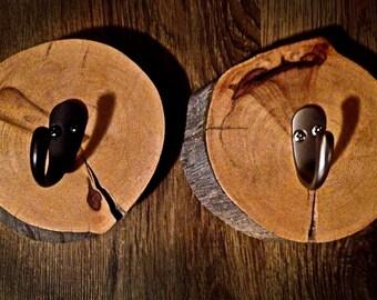 Log Single Coat/Towel Hook
