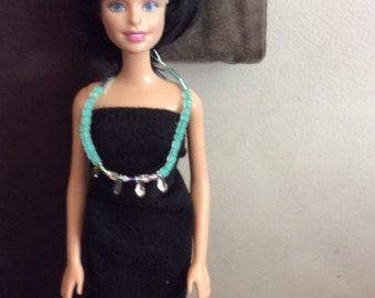 Doll turquoise beaded necklace