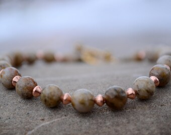Feldspar bracelet, Feldspar jewelry, Genuine feldspar bracelet, Feldspar gift, Beaded feldspar bracelet,  Buy one get one free.
