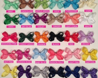 Hair Bows---1 dollar bows/3 inch bow/BEST SELLER/ 30 colors---Simply Sweet/ Boutique bows/girl bows /toddler bows/  Boutique bows/girl bow