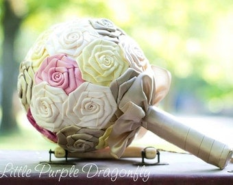 Custom Made Bridesmaids Wedding Bouquet You Choose The Colors