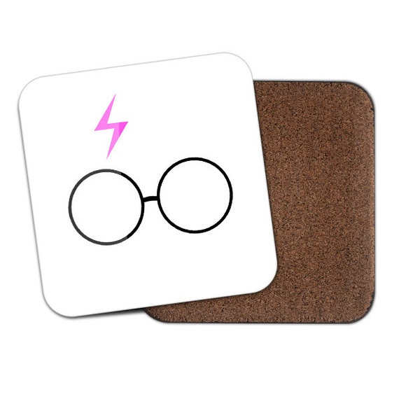Harry white scar and glasses coaster - Cute coaster 2S003