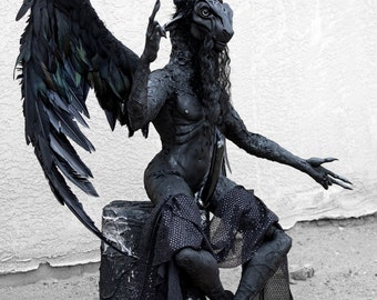 Large hand made full figure Baphomet  sculpture