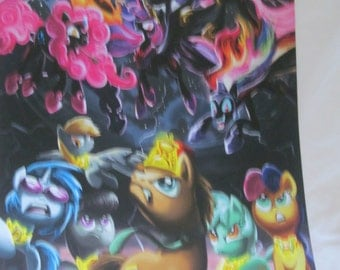My Little Pony - Nightmare 6 vs Background six A3 print. 12 x 16.5 inches
