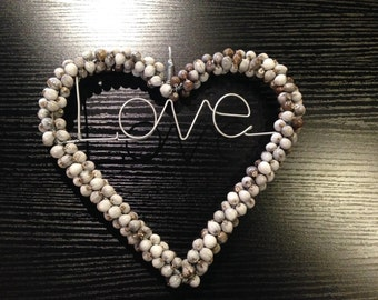 Beaded Hanging 'Love' Sign