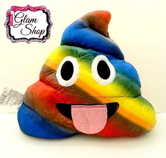 Poop Emoji Pillow Emoji Birthday Party Favor Rainbow