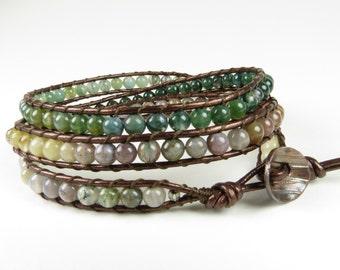 3 Wrap Bracelet of Fancy Jasper