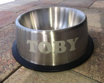 Personalized Dog Dish