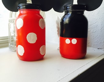 SALE Mickey & Minnie Mason Jars