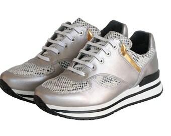 MACHEO SILVER, Vegan Sneaker, Non Leather, On SALE!