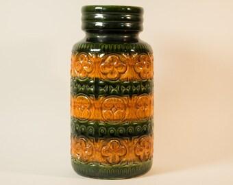RESERVED - Scheurich vase, Foligno decor, model 289-27 - West Germany, Fat Lava, Mid century, Vintage