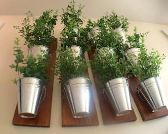 Indoor Wall Planter -wood grain