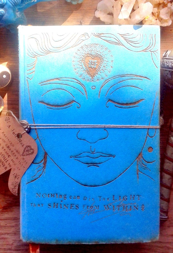 Recycled Book Cover Ideas : Buddha journals made from recycled vintage books with a soul