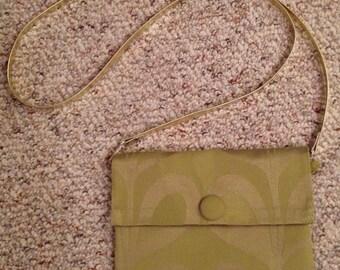Green Convertible Clutch Shoulder Bag