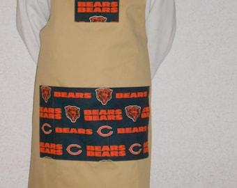 Apron Chicago Bears football team BBQ style
