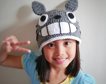 Totoro crochet hat,my neighbor totoro hat,anime crochet hat,character crochet hat,cosplay hat,totoro hat,baby photo props,totoro costume,hat
