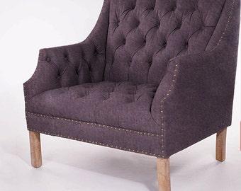 Frankie: Armchair or sofa  - Solid wood (oak, pine, walnut) frame