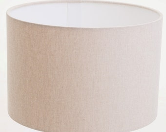 Cream Linen Effect Lampshade, Table Lamp, Pendant, Ceiling Shade