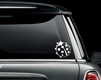 Ladybug Custom Car Truck Van Window or Bumper Sticker Vinyl Decal