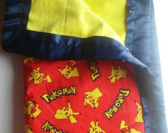Classic Pikachu Pokemon Baby/Toddler Blanket