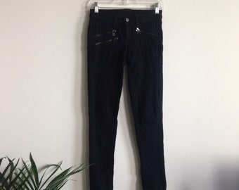 Black Pants w/ Zippers Sz 25