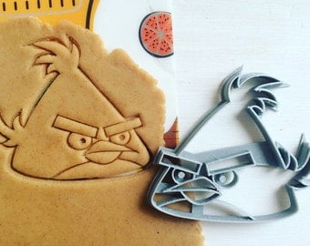 cc0159 Cookie Cutter angry birds pig yellow red bird cookiecutter cookies custom shape custom size custom picture