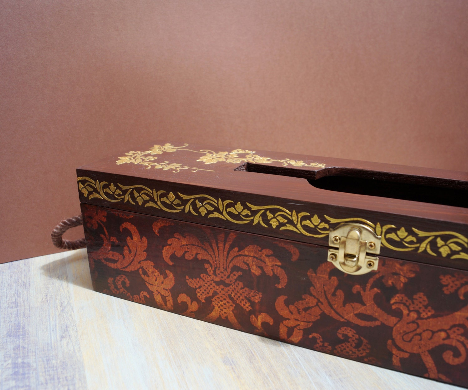Wood wine box grapes wood wedding wine box wedding wine box for Timber wine box