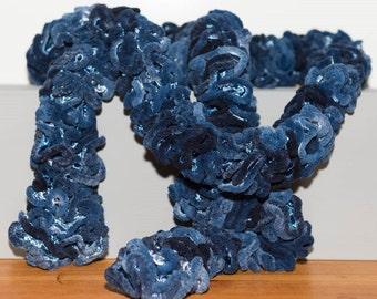 Novelty blue scarf