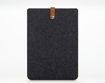 iPad Mini 2 Sleeve - iPad Mini 3 Case - iPad Mini 4 Cover - iPad Mini Leather - Felt Leather Case
