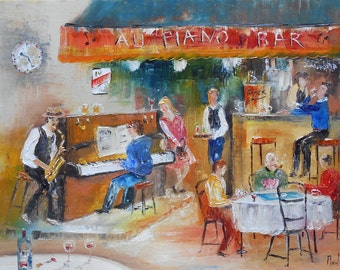 "Painting  ""Piano Bar"""