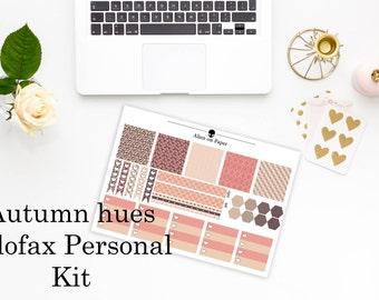 Autumn Hues Filofax Personal weekly kit