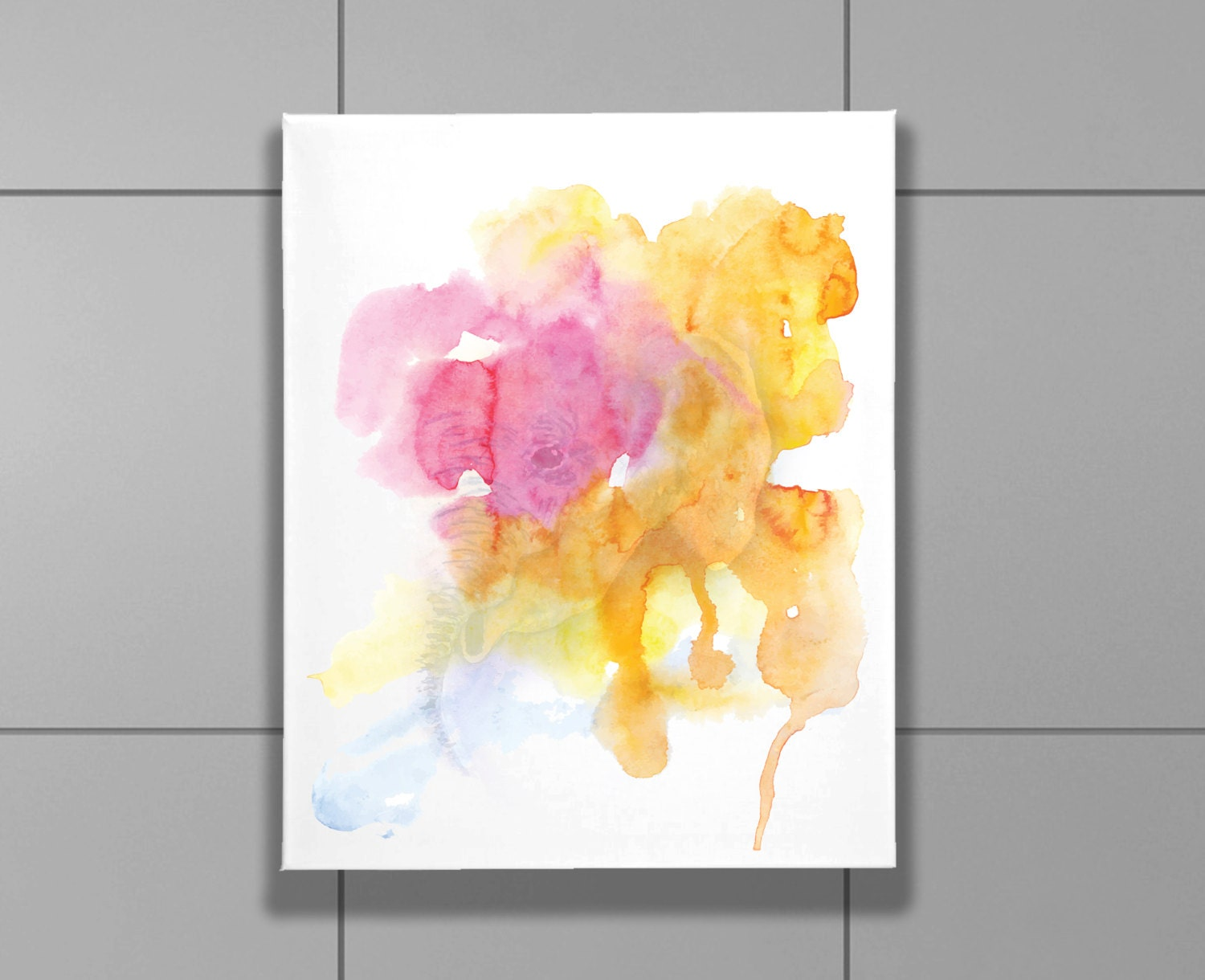 Wrap Canvas Colorfull watercolor elephants print 8 x 10, Bedroom ...