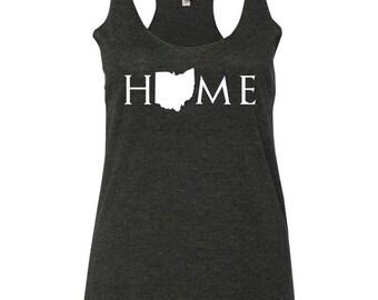 Ohio home tank top, Your state tank, Ohio shirt, Ohio tank top, Ohio home, Ohio home T