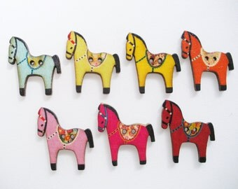 Horse Fridge Magnet Set