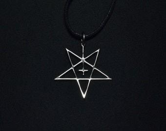 Dark Funeral Pendant Necklace Pentagram Logo Symbol Satan