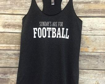 Sundays Are For Football Womens racerback Tank Top, football lover, football mom, football gift tank