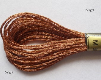 Anchor Embroidery Metallic Thread  Skeins / Floss Bronze Color