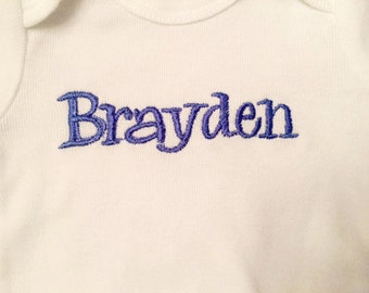 Personalized Embroidered Onesie