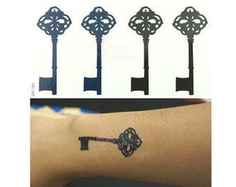 Keys - Temporary Tattoos // Body Art // Cool // Tumblr Style // Summer // Party